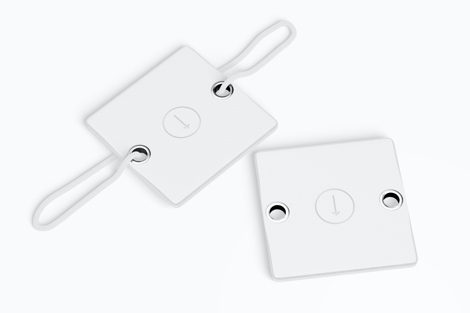 Leather Tags For Notebook Mockup