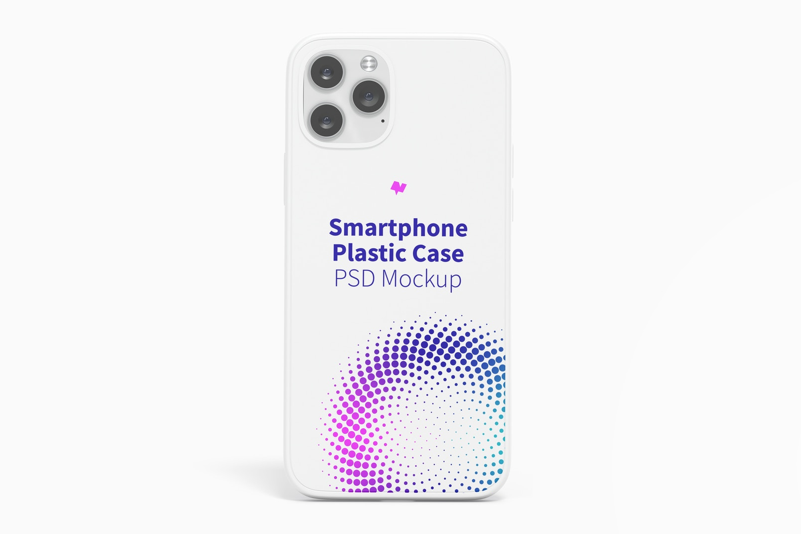 iPhone 12 Plastic Case Mockup, Front View
