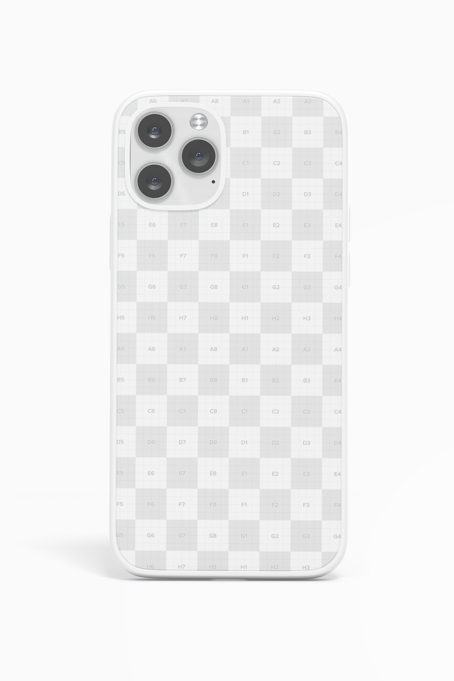 The checker board pattern shows where you can place your design.