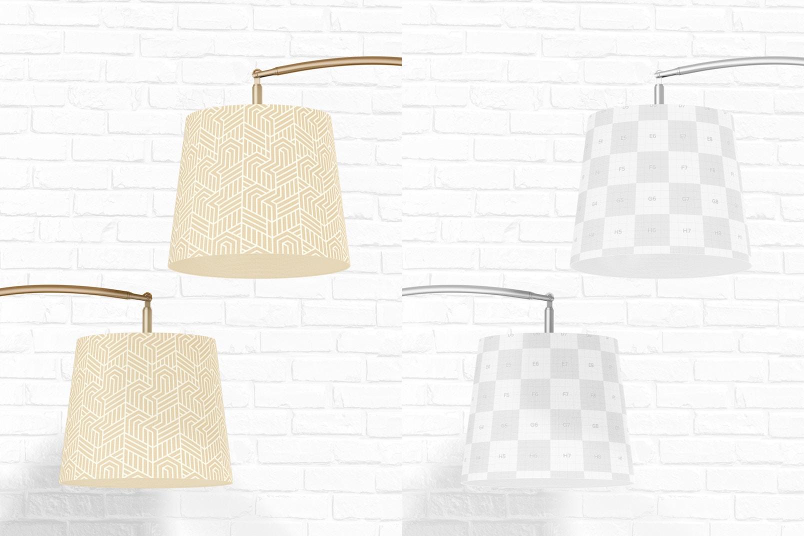 Arc Floor Lamps Mockup