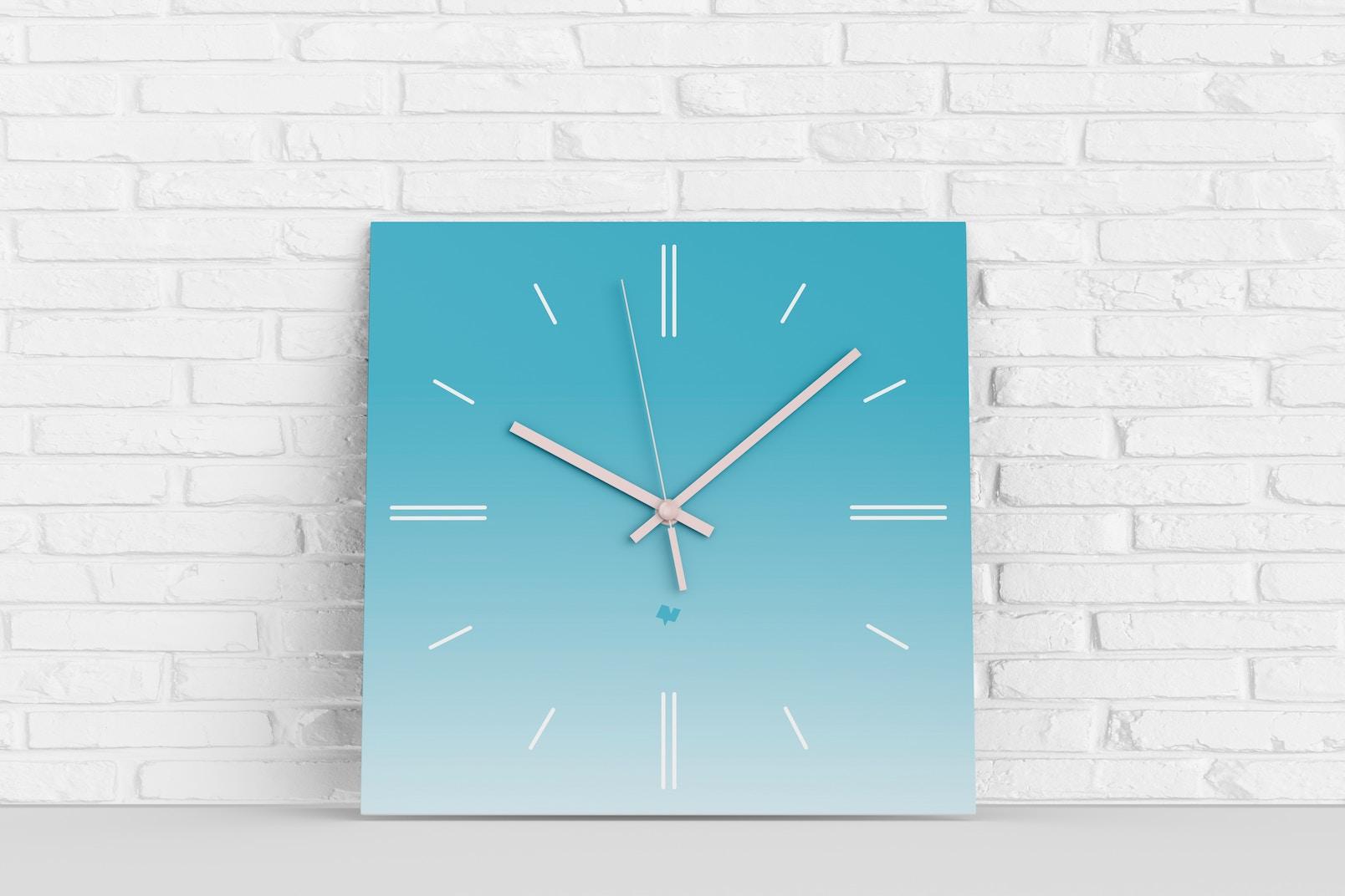 Maqueta de Reloj de Pared Cuadrado, Inclinado