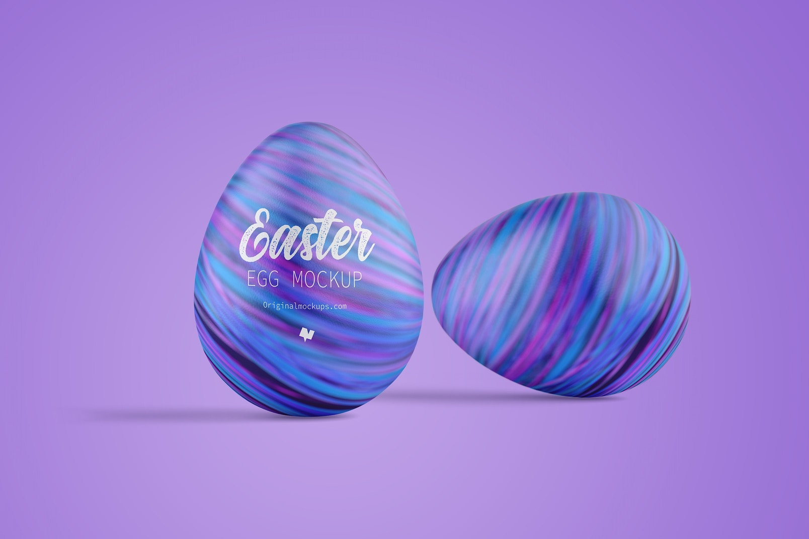 Easter Egg Mockup, Front View 02