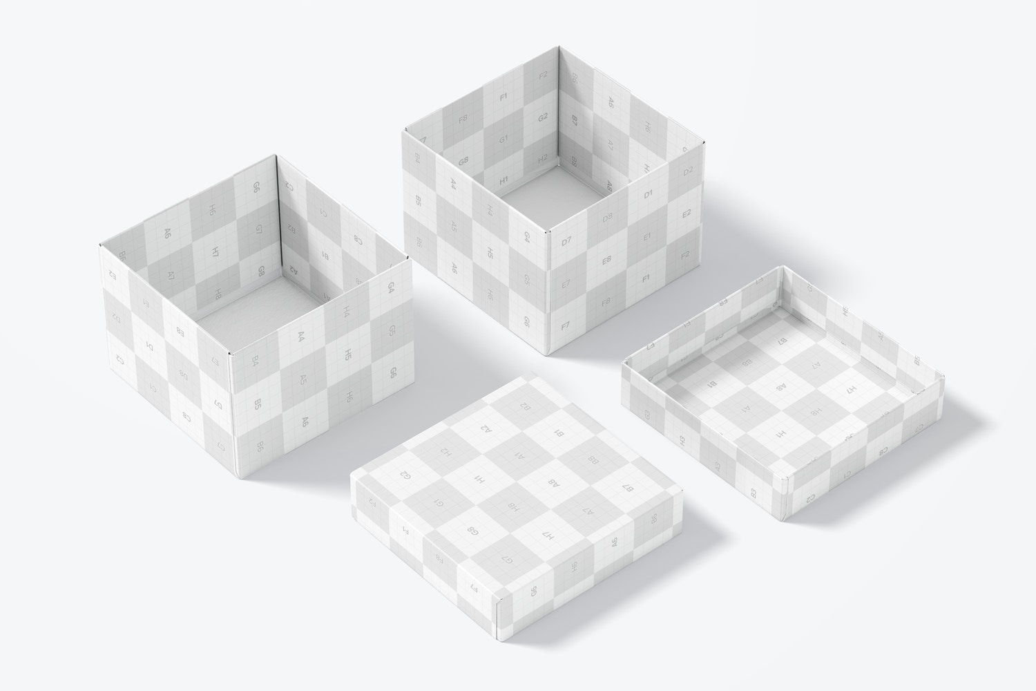 This scene gives you the option to show the inside of the boxes.