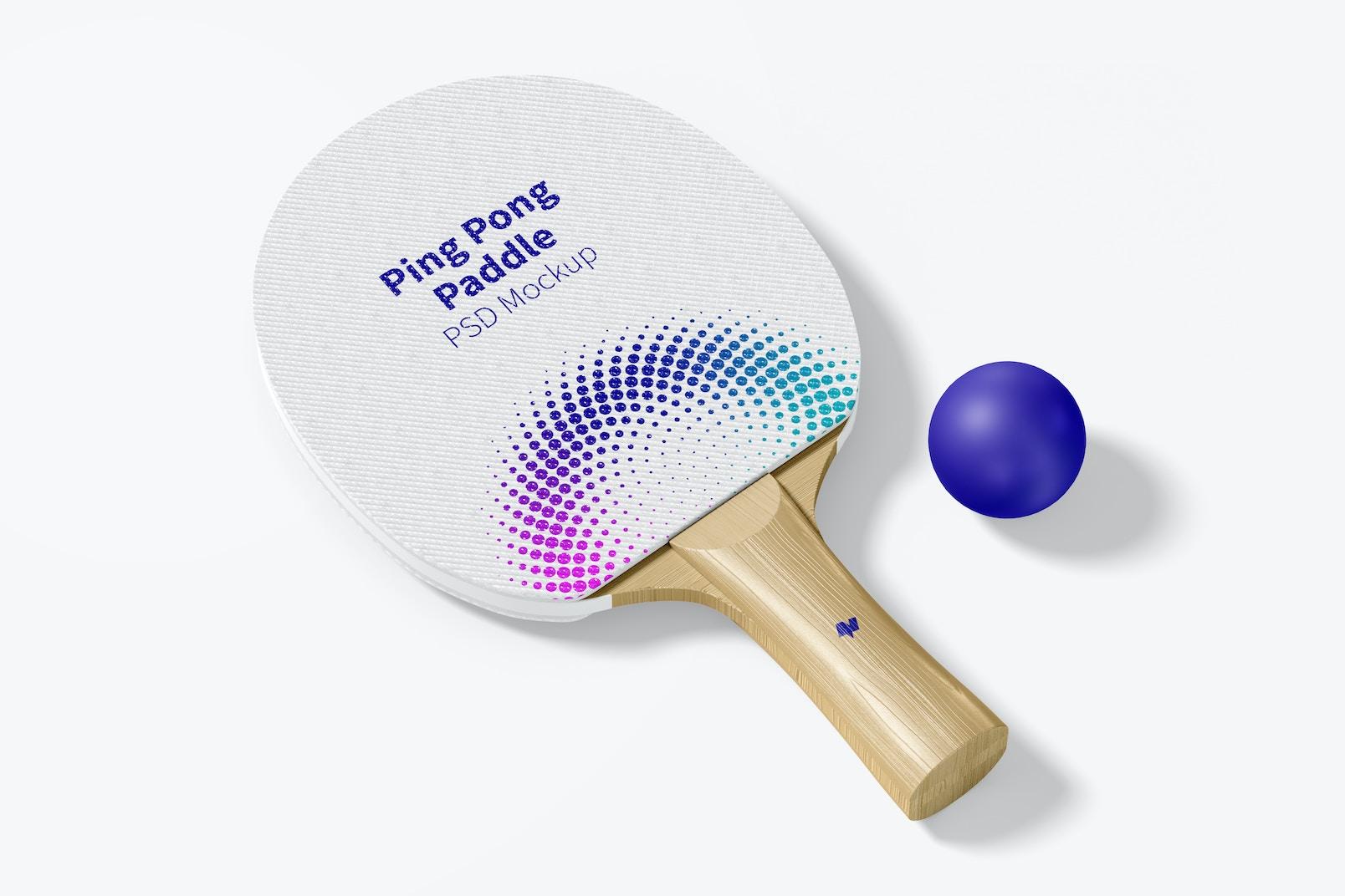 Ping Pong Paddle Mockup