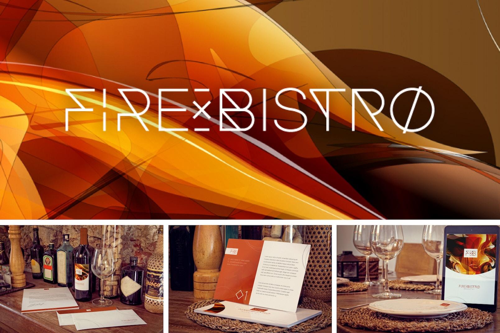 Fire X Bistro Mockup Kit Poster