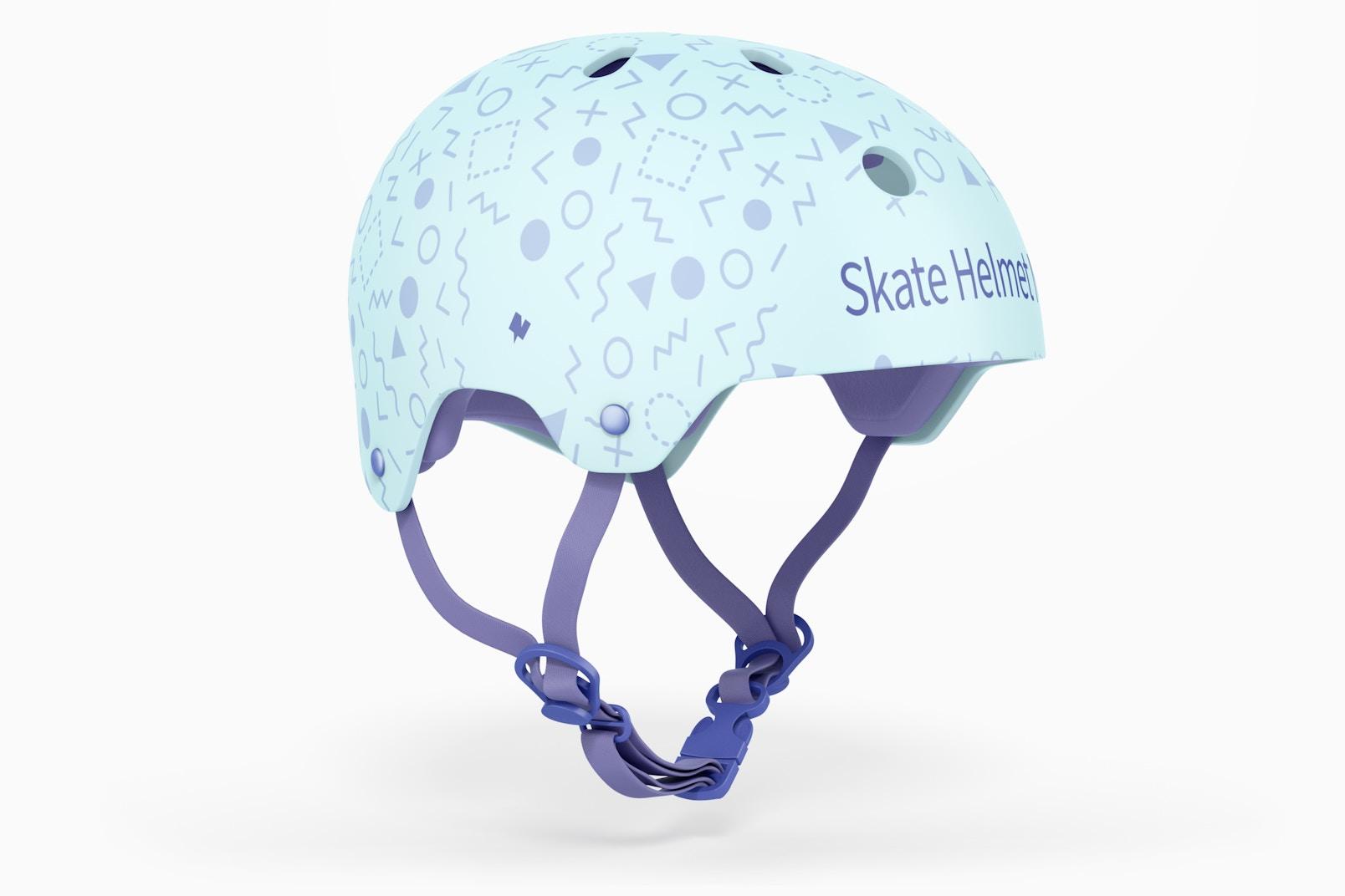Skate Helmet Mockup, 3/4 Front Left View