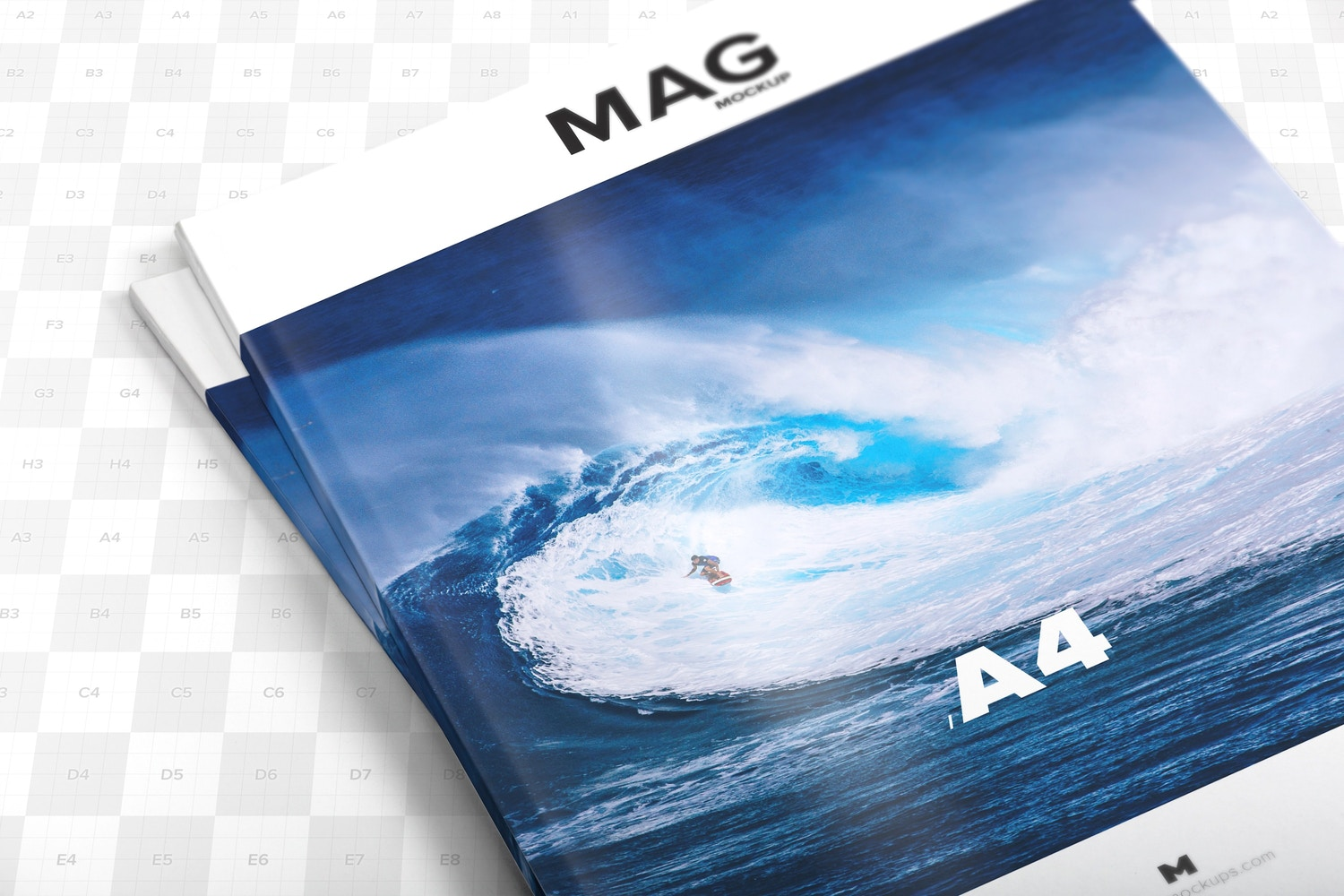 A4 Magazine Closed Mockup 01 - Custom Background