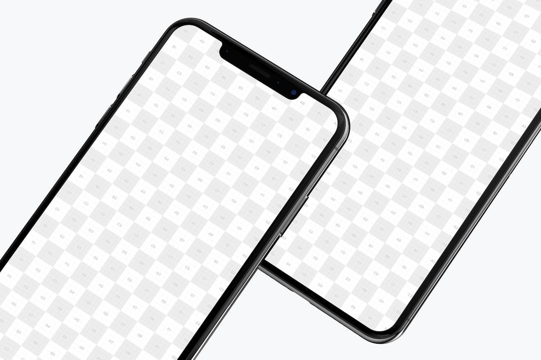 iPhone XS Max Mockup, Close Up