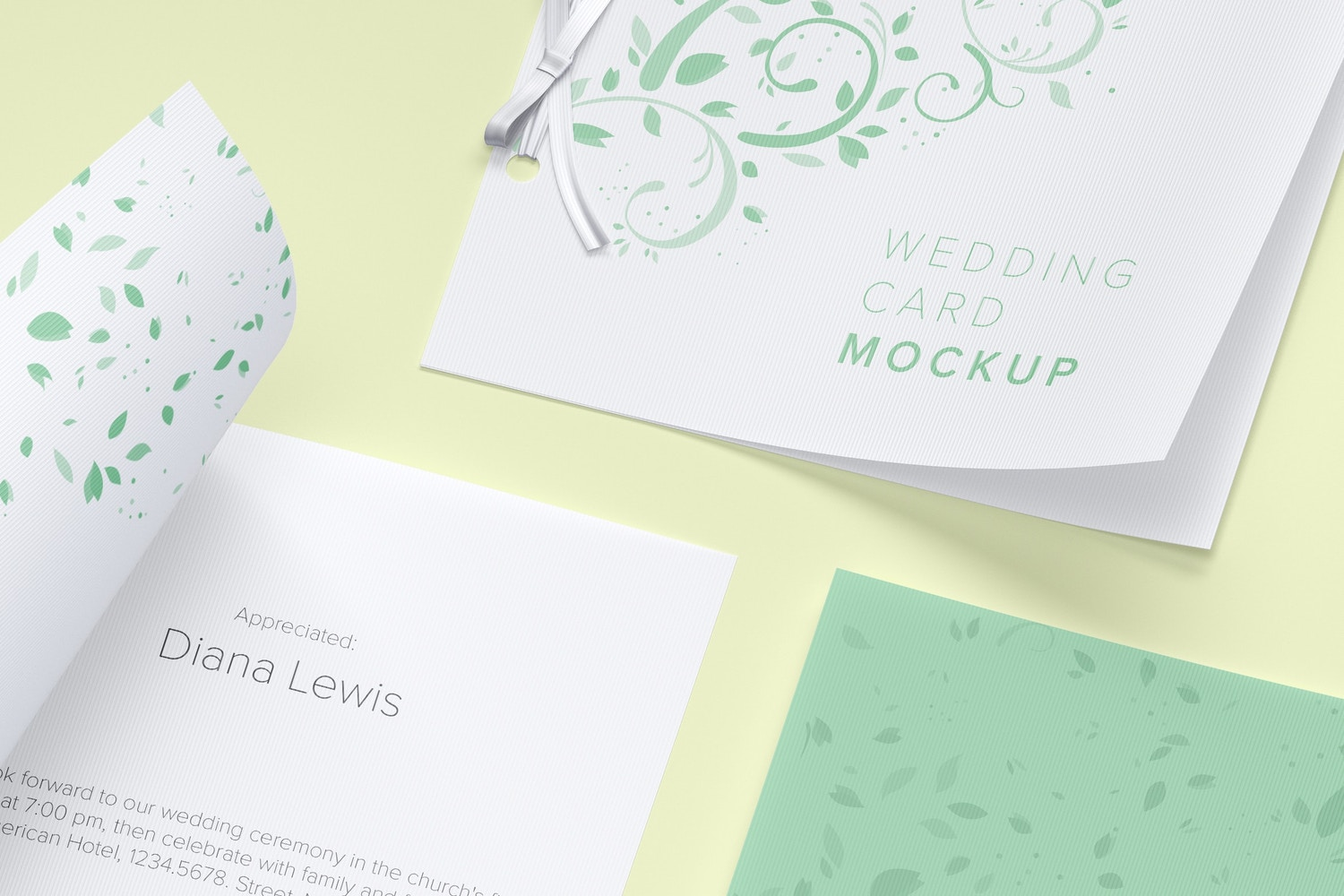 Wedding Card Mockup, Covers and Inner Pages (3) by Original Mockups on Original Mockups