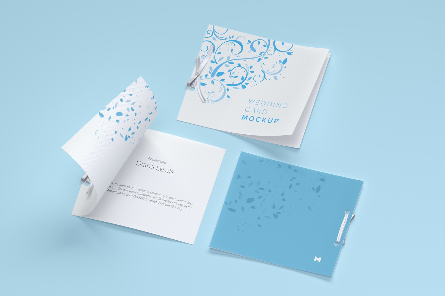 Wedding Card Mockup, Covers and Inner Pages (5) by Original Mockups on Original Mockups