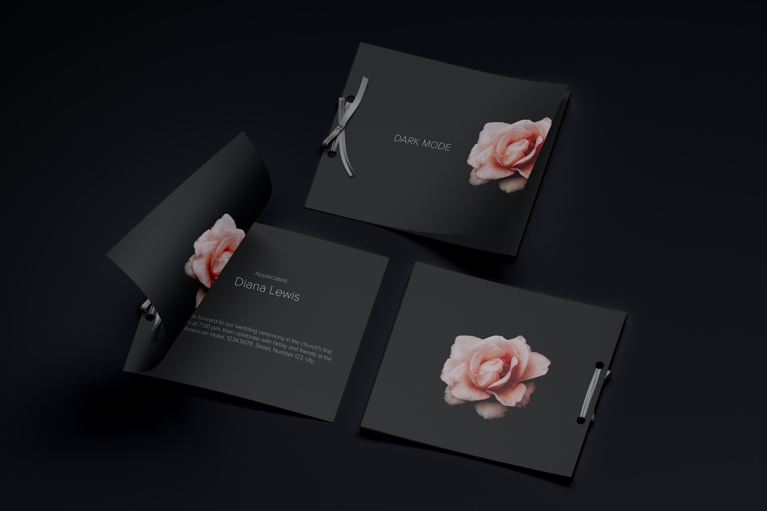 Wedding Card Mockup, Covers and Inner Pages (6) by Original Mockups on Original Mockups