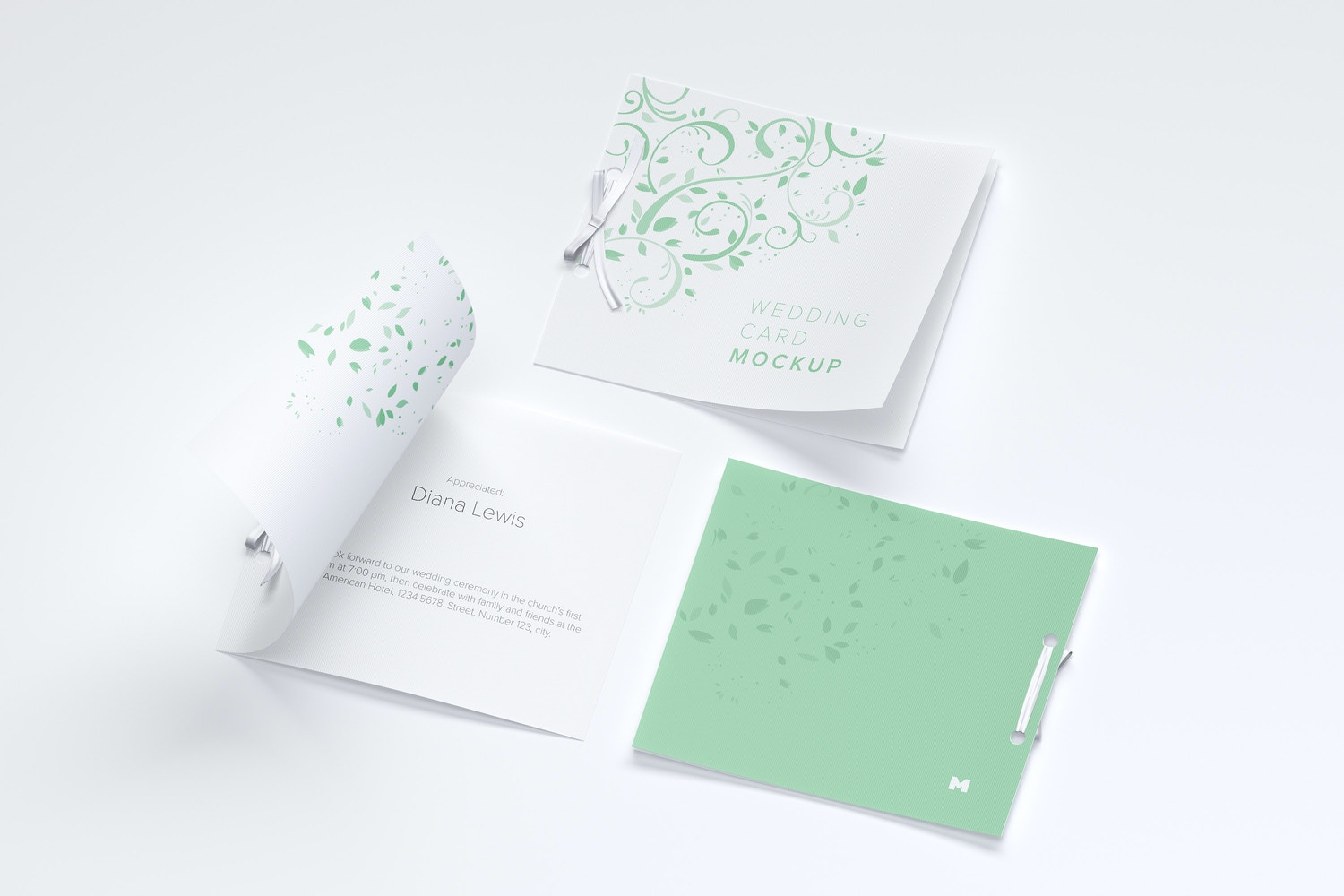 Wedding Card Mockup, Covers and Inner Pages by Original Mockups on Original Mockups