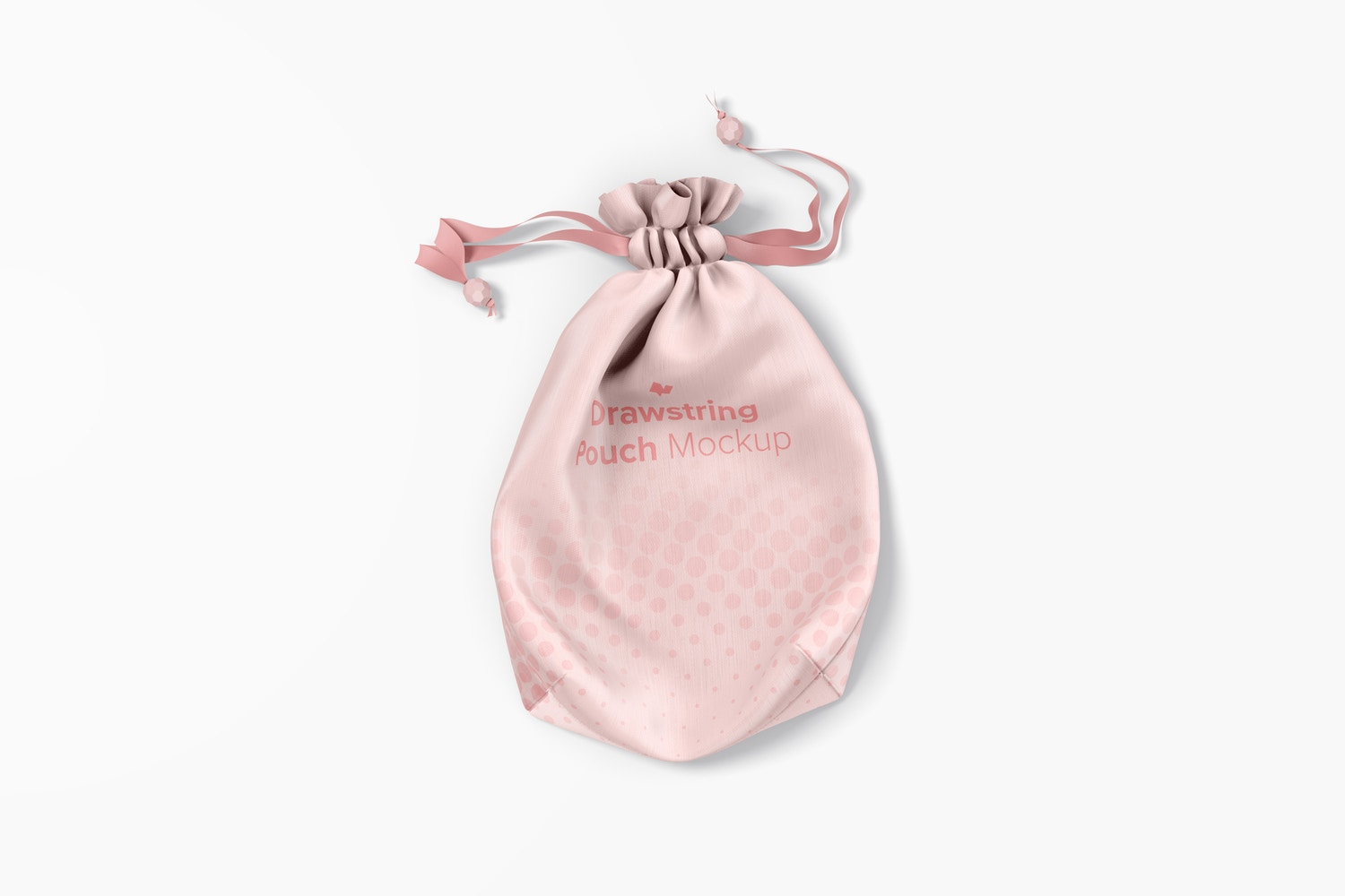 Drawstring Pouch Mockup, Top View