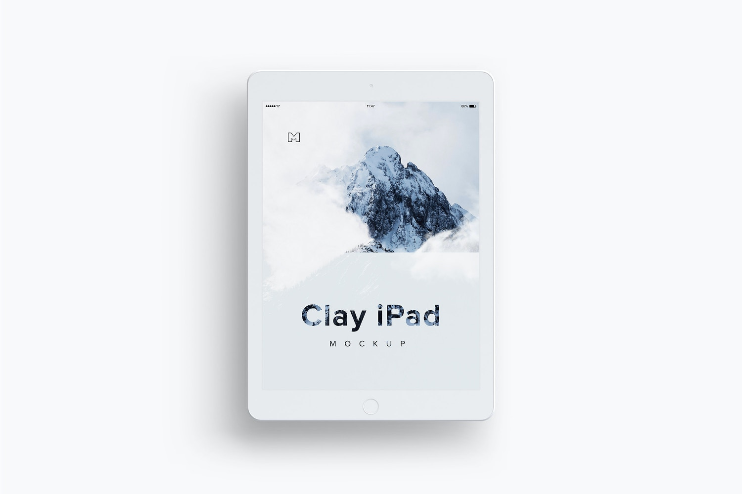 Clay iPad 9.7 Mockup 03 by Original Mockups on Original Mockups