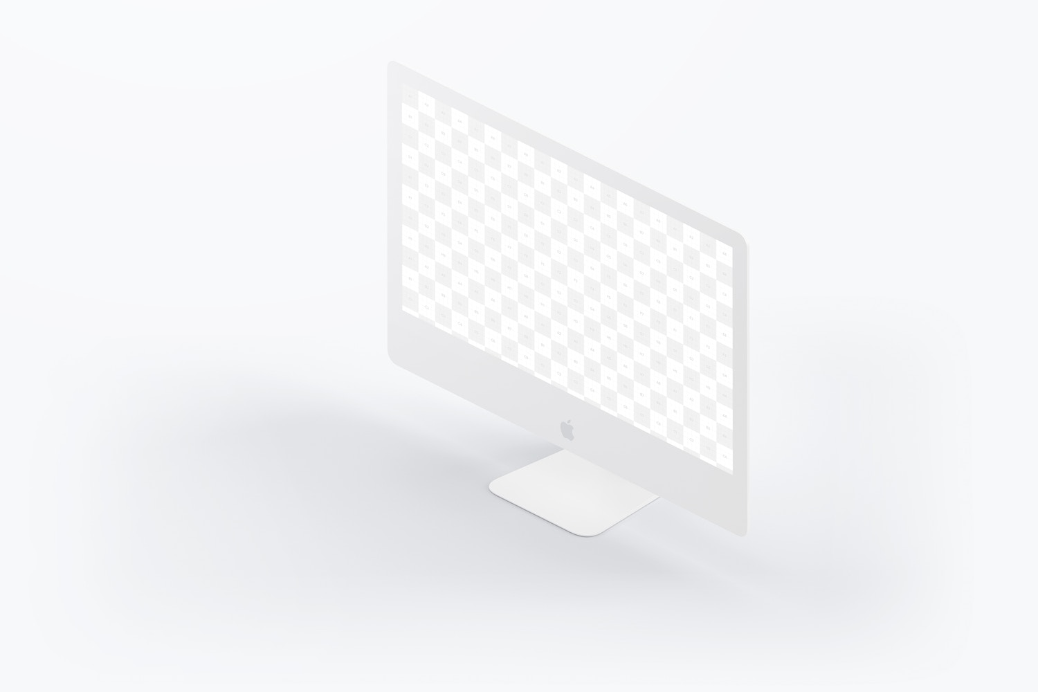 "Clay iMac 27"" Mockup, Isometric Right View (2) by Original Mockups on Original Mockups"