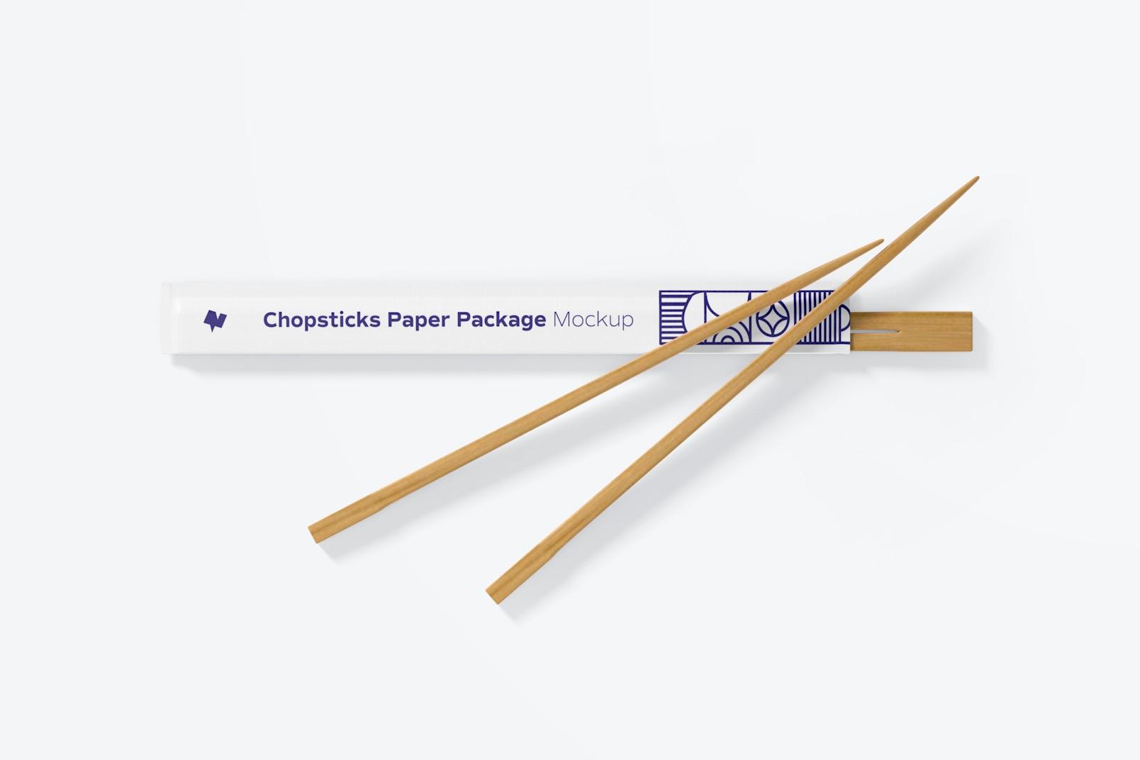 Chopsticks Paper Package Mockup