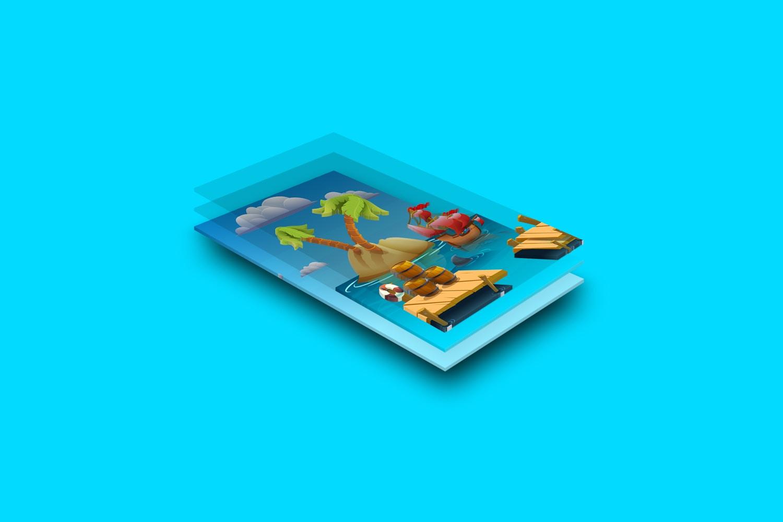 UI Design - Mobile Display Mockup 01