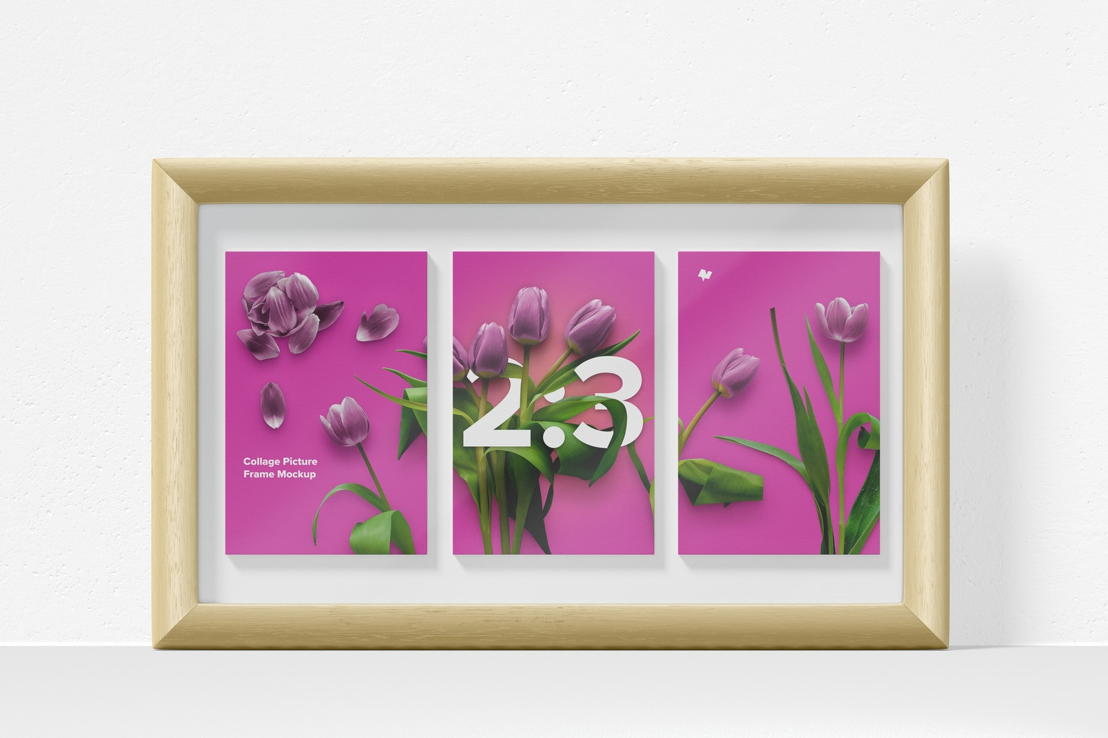 2:3 Collage Picture Frame Mockup