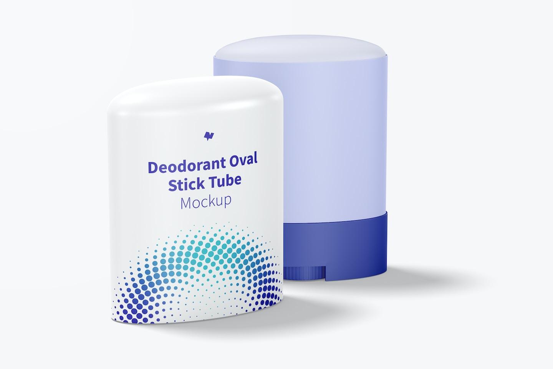 Deodorant Oval Stick Tubes Mockup