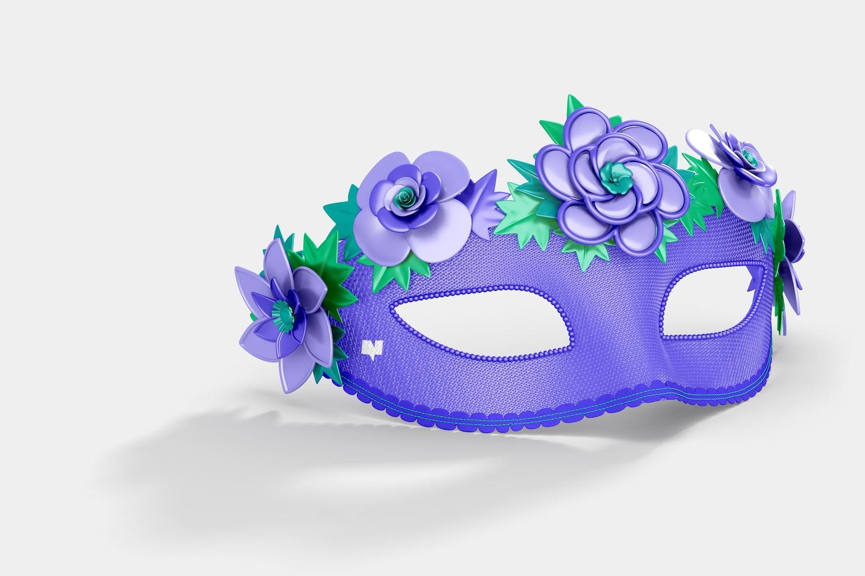 Floral Venetian Half-Face Mask Mockup