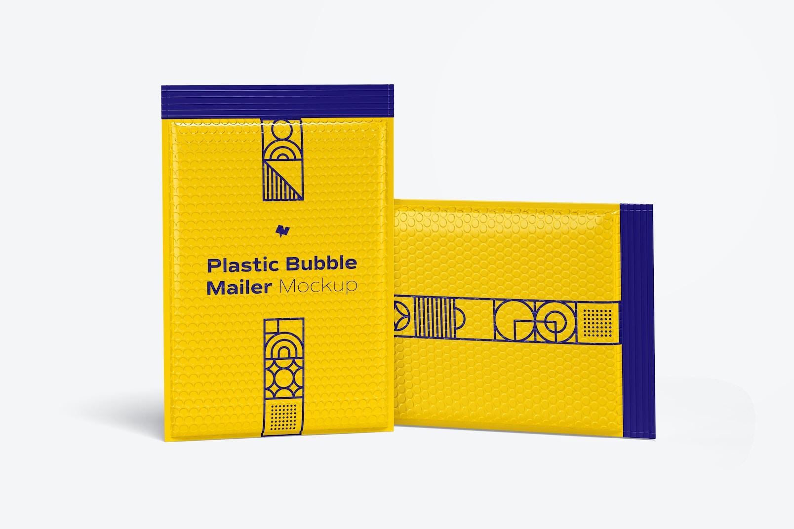 Plastic Bubble Mailers Mockup