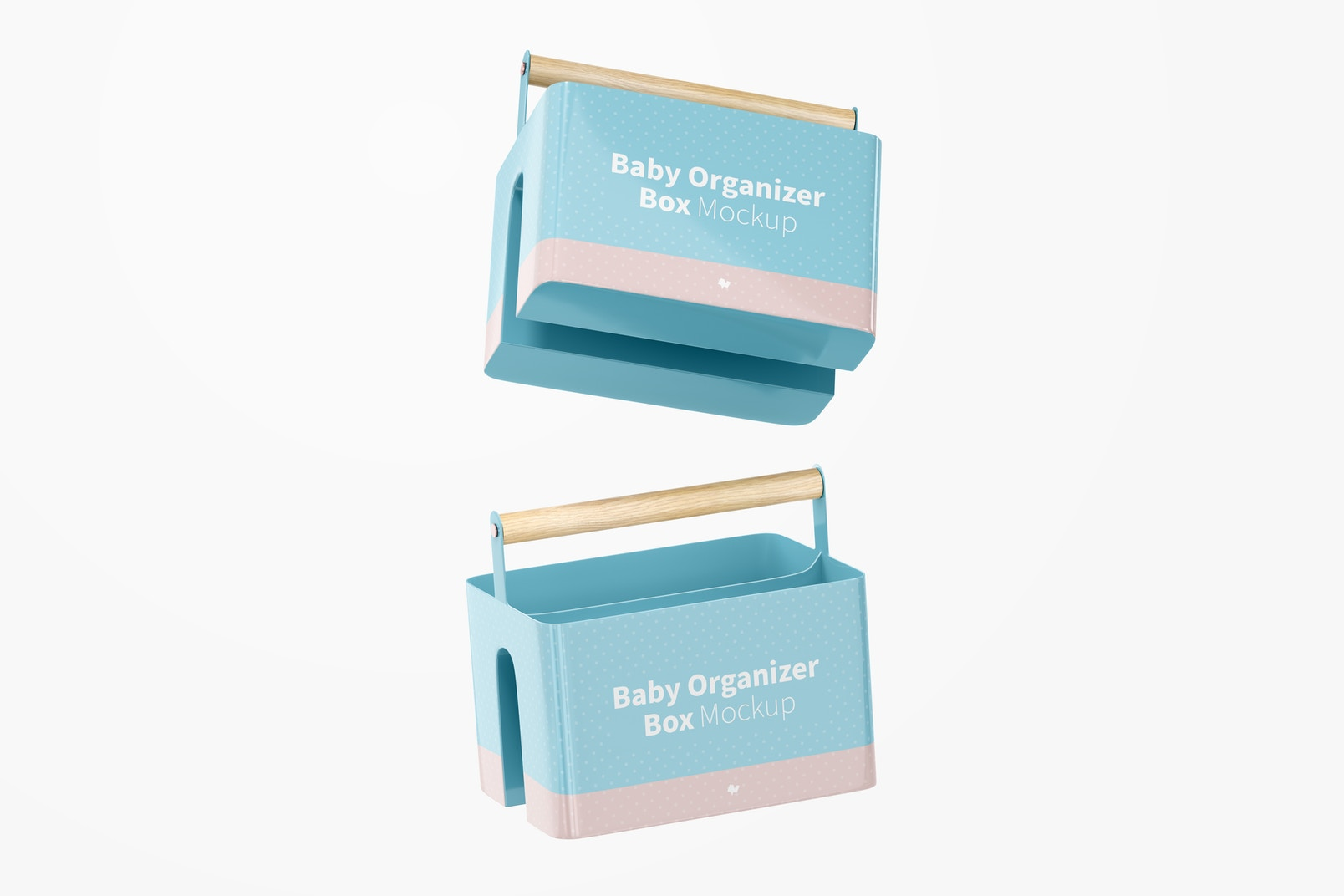 Baby Organizer Box Mockup, Floating