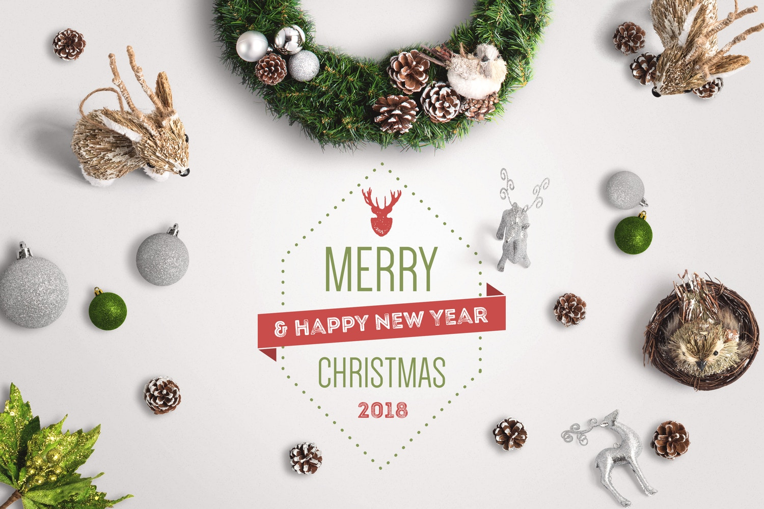 Christmas Header And Hero Scene Mockup 04 por Original Mockups en Original Mockups