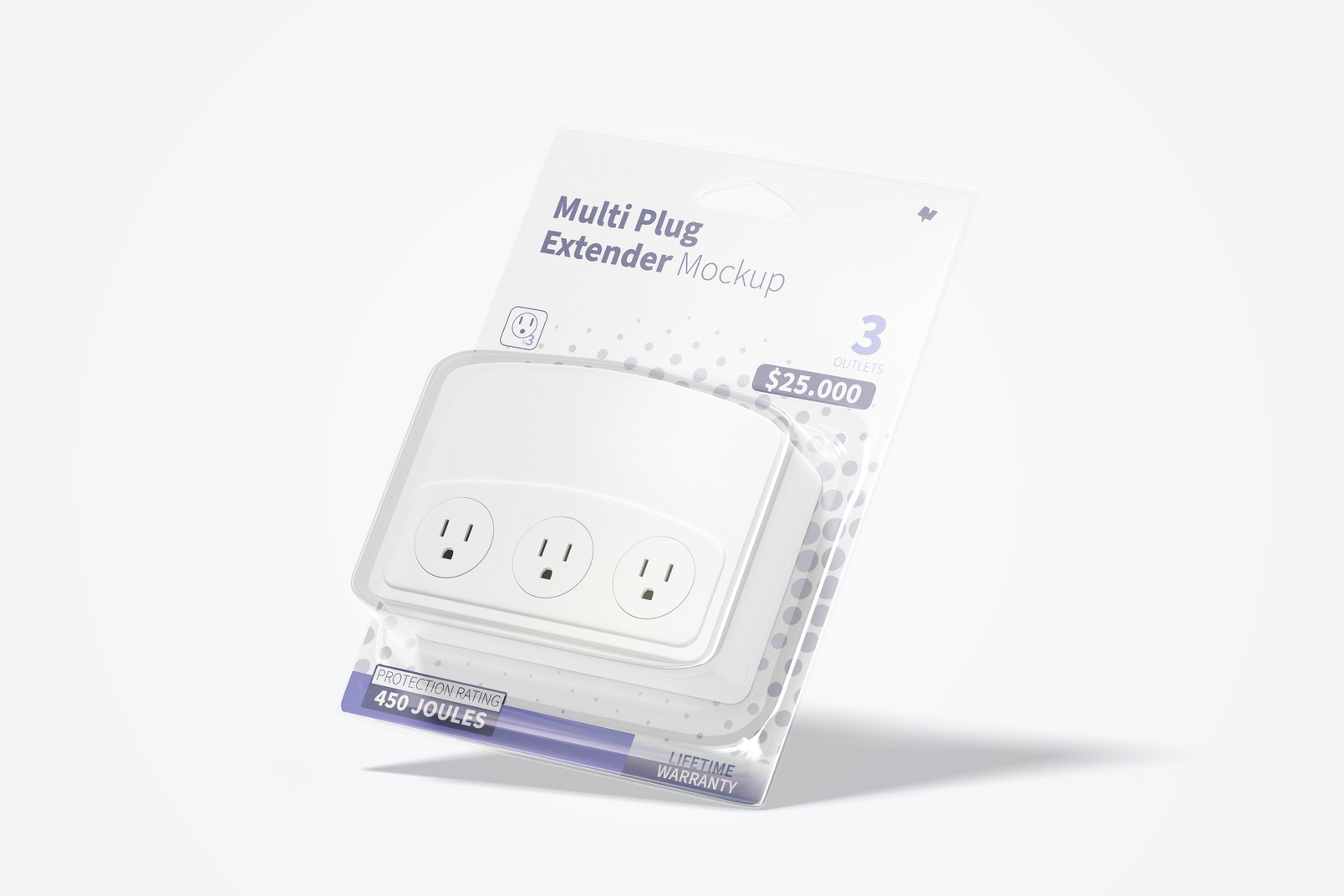 Multi Plug Extender Mockup, Perspective