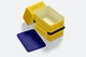 Rectangular Plastic Food Delivery Containers Mockup, Stacked