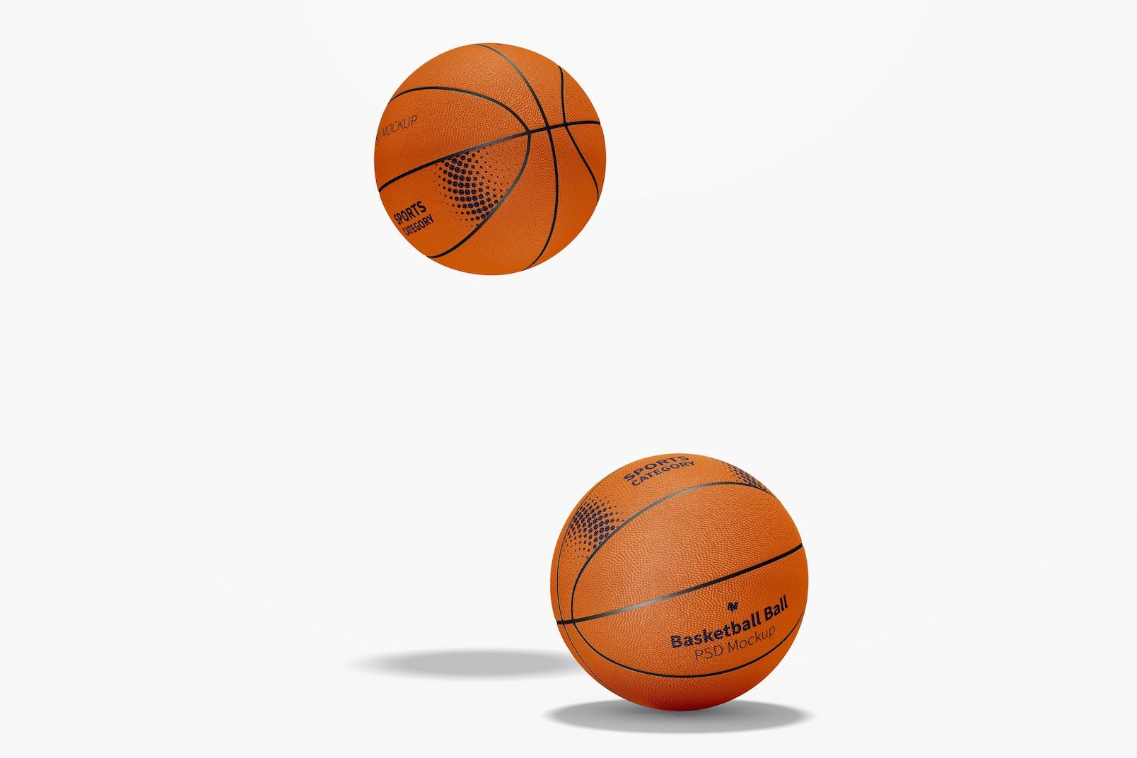 Basketball Balls Mockup