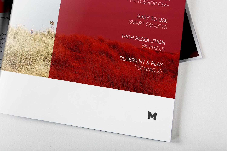 Letter Booklet Cover & Spread Mockup