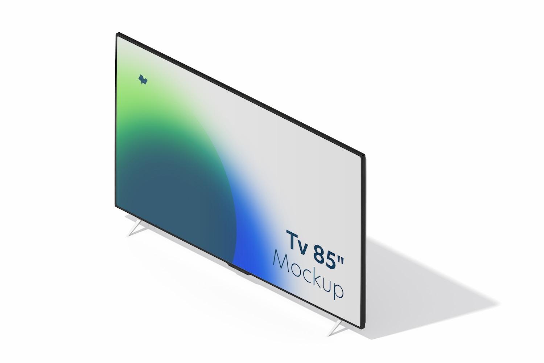 "TV 85"" Mockup, Left View"