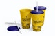 Small Plastic Cup with Lid Set Mockup