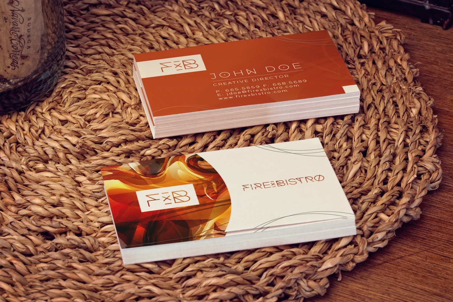 Business Cards Mockup 01 por 4to Pixel en Original Mockups