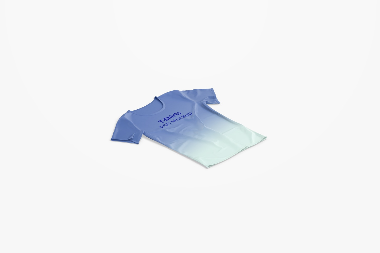 T-Shirt Mockup, Isometric Right View