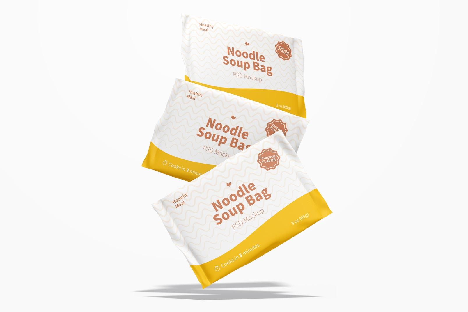 Maqueta de Bolsas de Sopa de Fideos, Cayendo