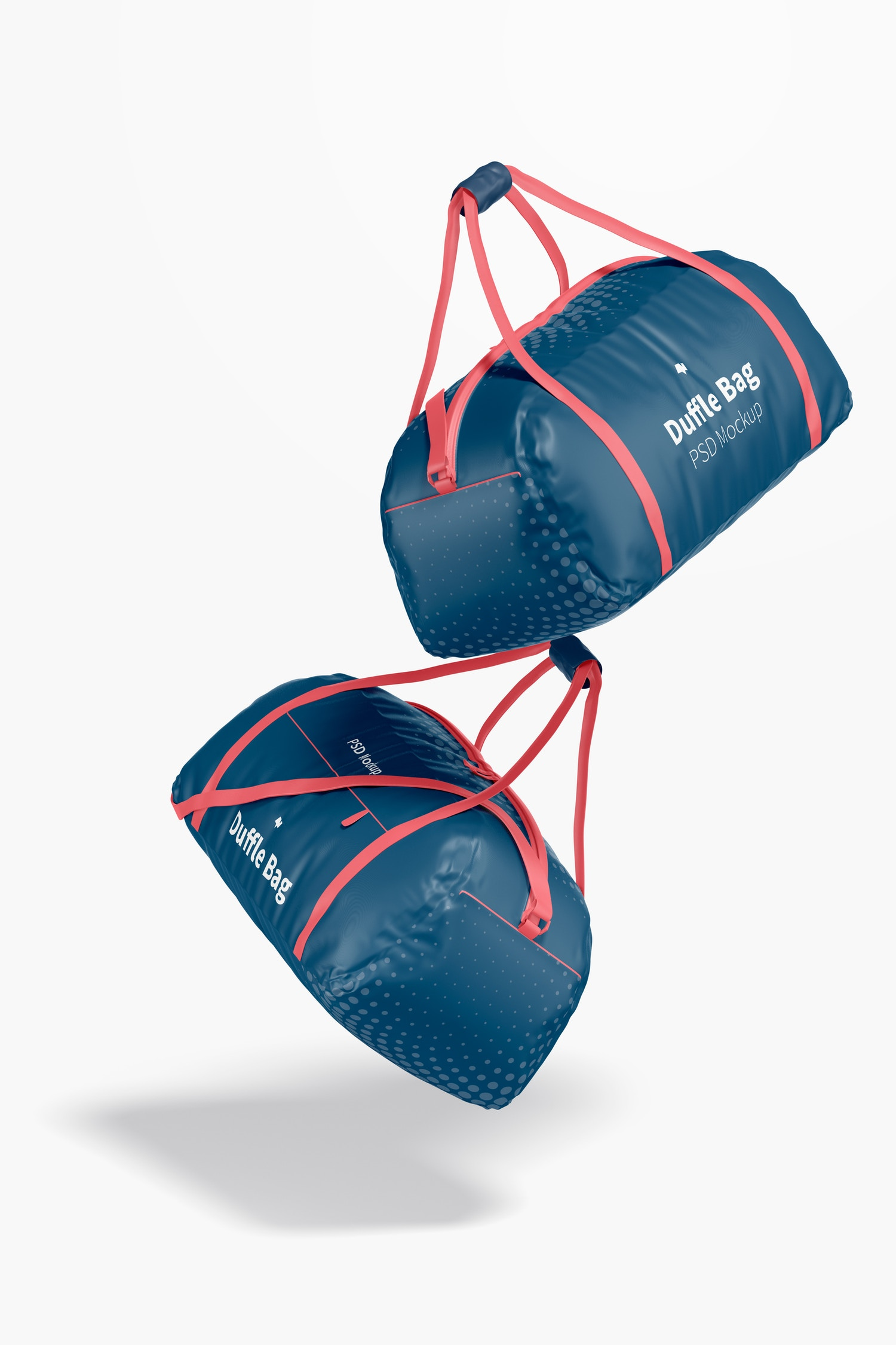 Duffle Bag Mockup, Floating