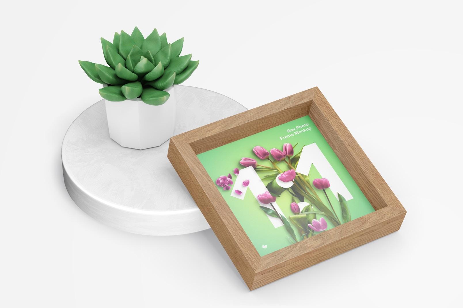 1:1 Box Photo Frame Mockup