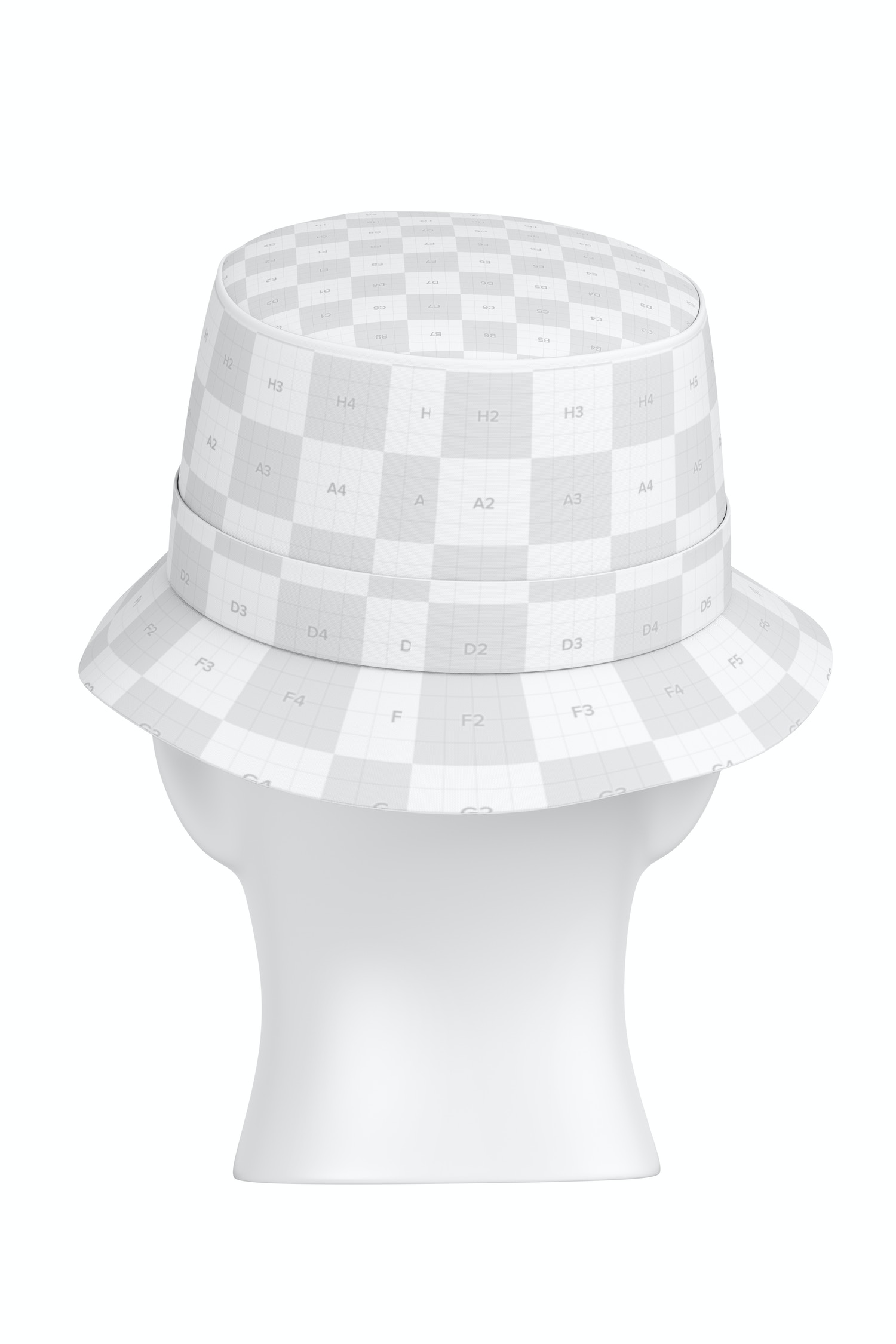 Bucket Hat Mockup, Back View