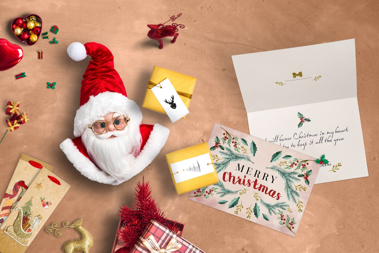 Christmas Header And Hero Scene Mockup 05 por Original Mockups en Original Mockups