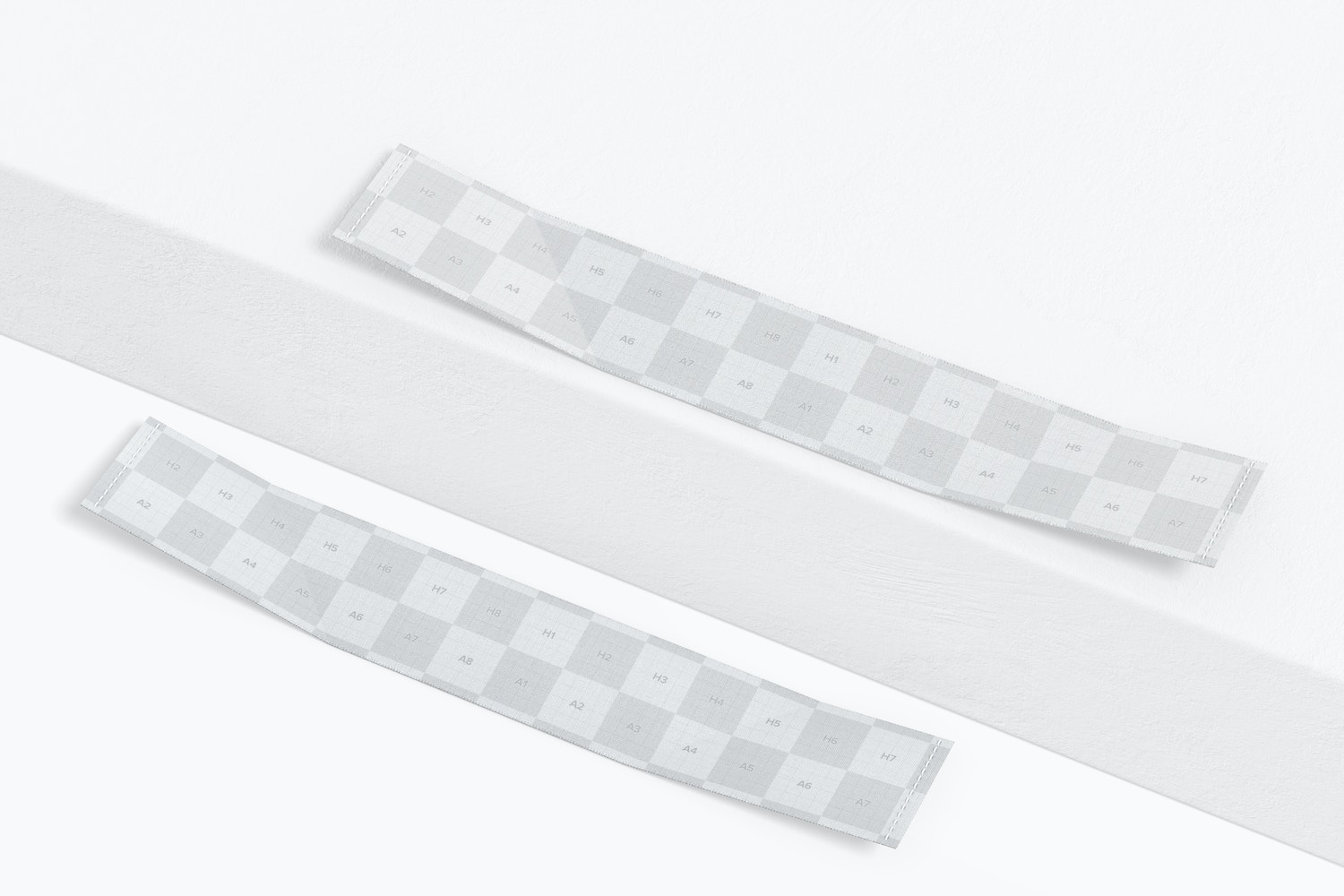 Sewn-In Labels on Surface Mockup