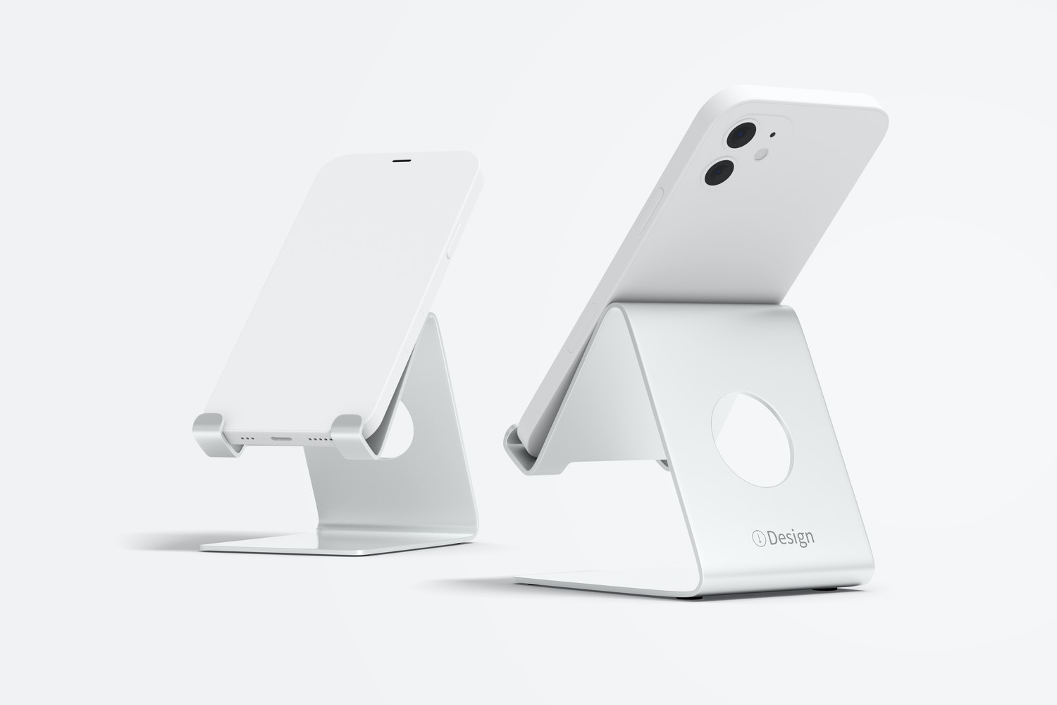 Phone Docks Mockup, Front and Back View