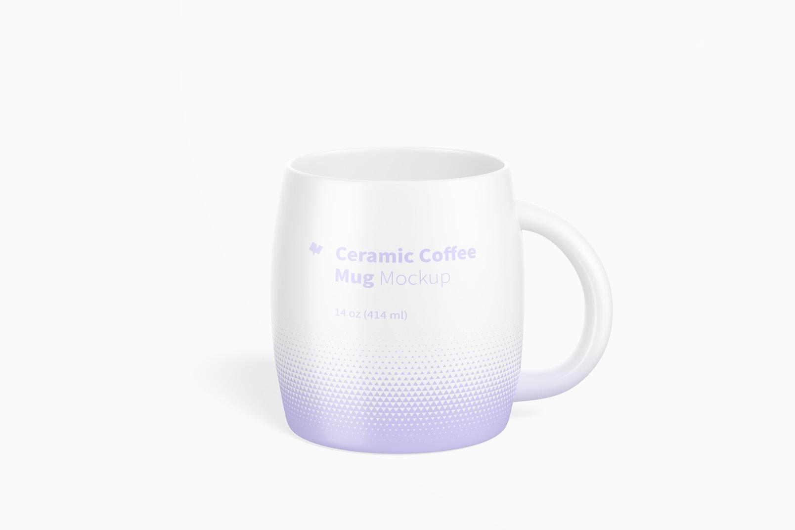 14 oz Ceramic Coffee Mug Mockup