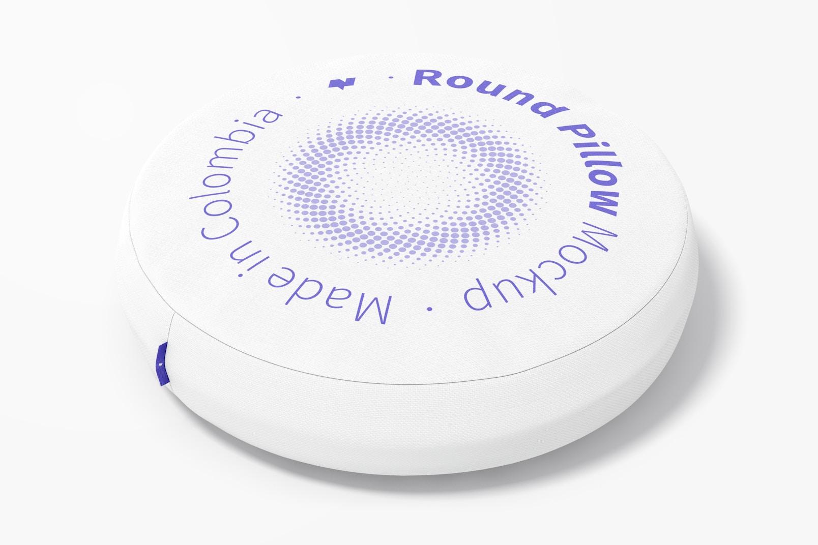 Round Pillow Mockup