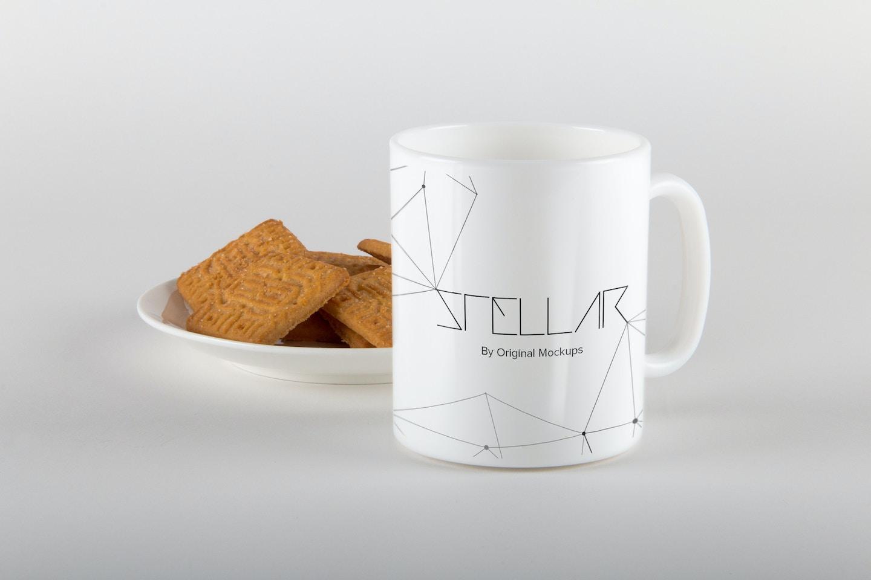 Mug with Cookies Mockup 05
