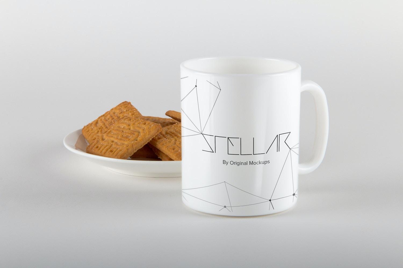 Mug with Cookies Mockup 05 por Original Mockups en Original Mockups