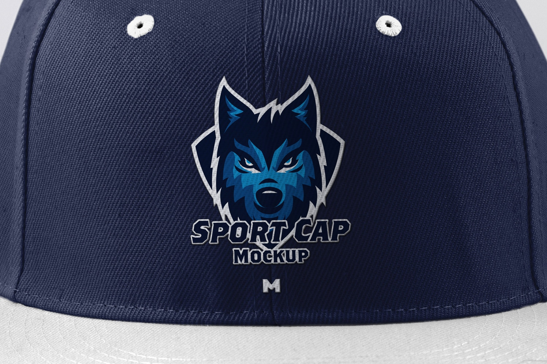 Sport Cap Front View Mockup