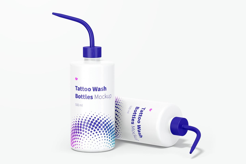 Tattoo Wash Bottles Mockup