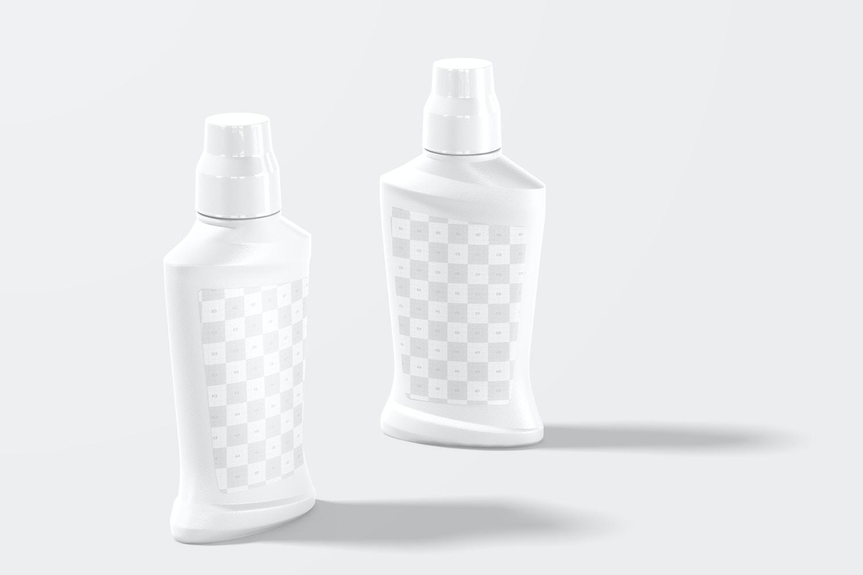 Mouthwash Bottles Mockup