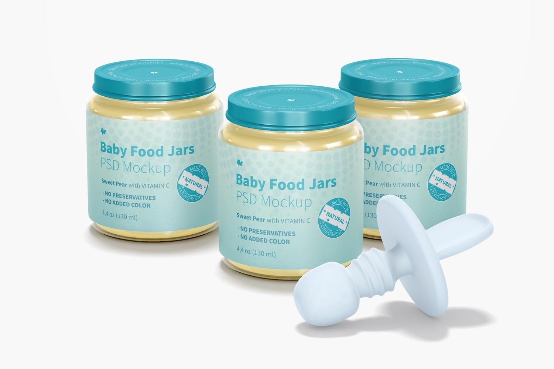 Baby Food Jars Mockup